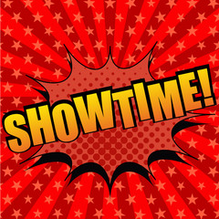 Showtime comic cartoon text