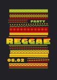 retro traditional decorative pattern. reggae color music backgro