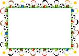Colored frame for children - 116567725