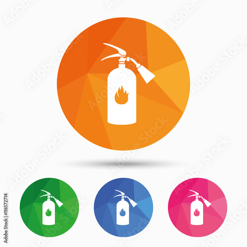 Fire Extinguisher Sign Icon Fire Safety Symbol Buy Photos Ap