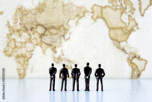 Fotobehang Wereldkaarten グローバルビジネスイメージ
