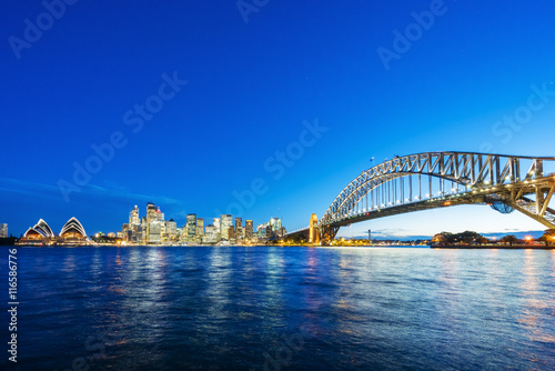 obraz lub plakat Sydney CBD and Harbour Bridge