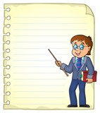 Notebook page with man teacher