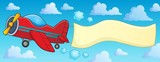 Retro airplane with banner theme 3