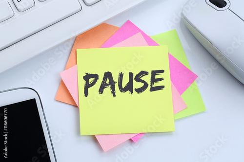 Pause Mittagspause Erholung Arbeit Business Konzept Schreibtisch