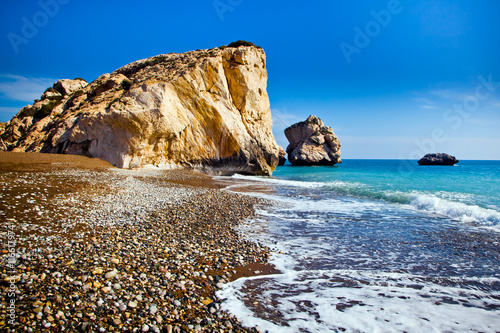 Foto op Canvas Cyprus Aphrodite's birthplace beach in Paphos, Cyprus