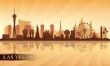 Las Vegas city skyline silhouette background