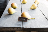 text natural and Juicy flavorful pears