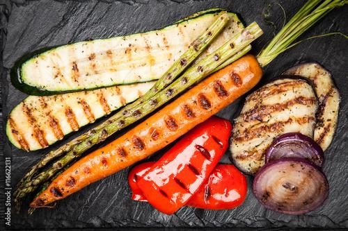 Fototapeta Assortment of grilled vegetables