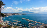Naples landscape from Posillipo hill. Italy
