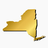 Vector image of the State of New York gold gradient fill.