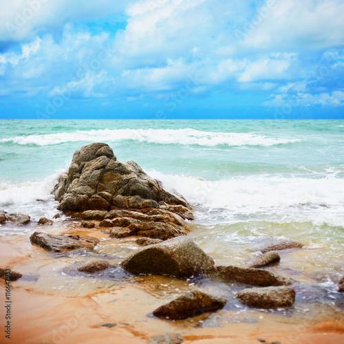 Obraz na Plexi Tropical ocean coast - Landscape