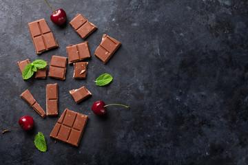 Chocolate and cherry berries