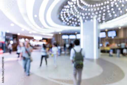 In de dag blur shopping mall background