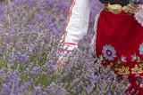 Bulgarian girl in a lavender field