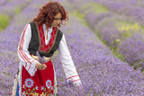 Bulgarian girl in a lavender field