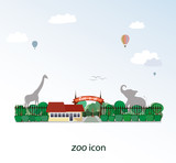 The icon of zoo. Behind the trees you could see the elephant and giraffe silhouettes