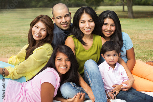 Large Hispanic Family Poster