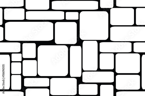 Seamless vector illustration of stone bricks background