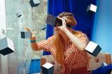 girl in virtual reality helmet