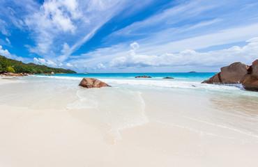 panorama d'Anse Lazio, Praslin, Seychelles
