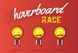 Hoverboard race, medal vector illustration - 116703792