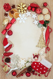 Christmas Abstract Decorative Border