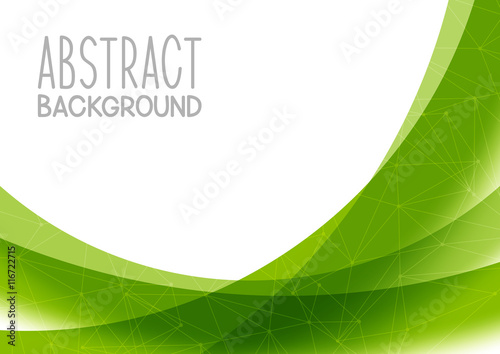 Sticker Abstract green background for Your design