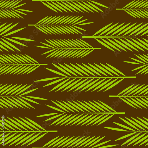 Panel Szklany Seamless pattern with palm leaves ornament