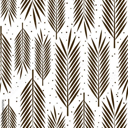 Fototapeta Seamless pattern with palm leaves ornament