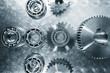 titanium aerospace-parts, cogwheels and ball-bearings