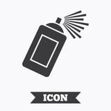 Graffiti spray can sign icon. Aerosol paint.