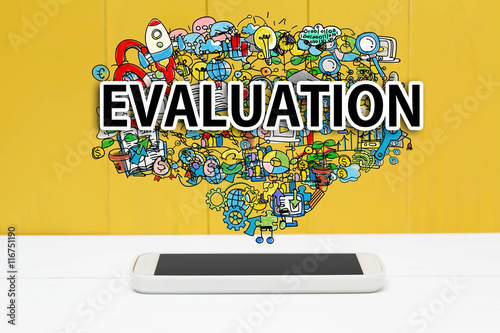 Evaluation concept with smartphone Poster