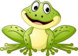 Kreskówka śliczna żaba