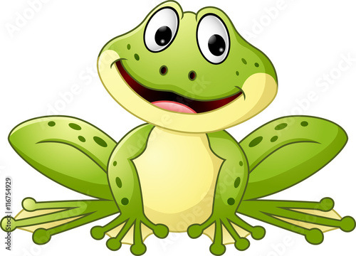Cartoon cute frog