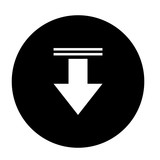 arrow down isolated icon design, vector illustration  graphic