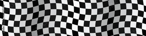 Tuinposter F1 Bannière. Drapeau. Damier. Checkerboard