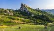Roccascalegna - impressive castle over rock in Abruzzo, Italy