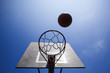 basketball court ring board against the sky