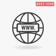 Internet Icon Vector, Internet Icon Flat