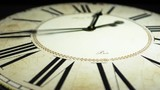 old antique clock watch  with roman numerals timelapse