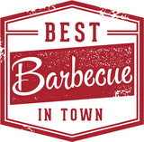 Best Barbecue in Town Sign