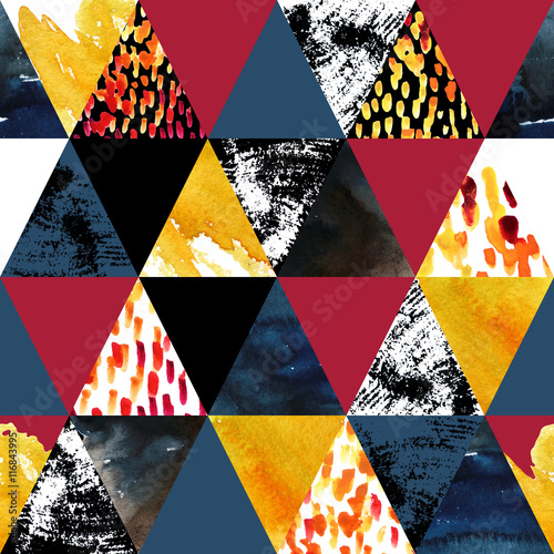 Autumn inspired watercolor seamless pattern - 116843995