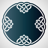 Openwork round element with celtic motif.