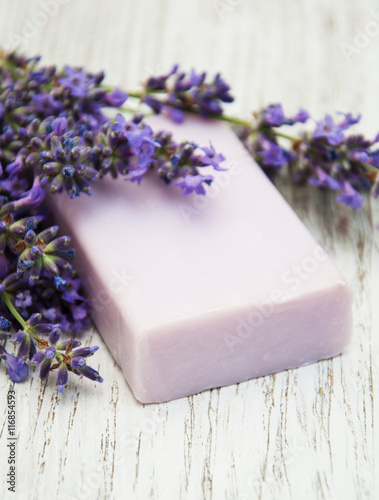 Fototapeta Lavender with soap