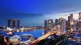 Singapore city skyline panoramic view. Downtown financial district at sunset - 116861585