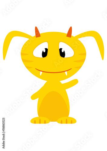 Obraz Cartoon Handy Monster gelb