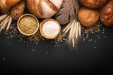 Fresh bread and wheat  - 116875793