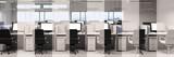 Büro mit Streifen in schwarz weiß