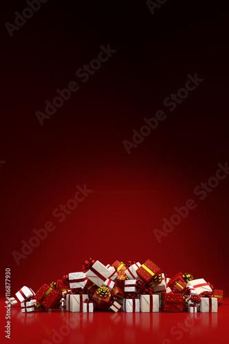Haufen Geschenke zu Weihnachten
